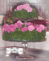 Parsley centerpiece created by Madalene Hill.
